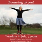 Zoom Classes Tuesdays in July, 7.30pm